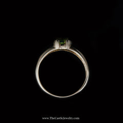 Charming Oval Shaped Peridot Ring in 14K Yellow Gold - The Castle Jewelry  - 3