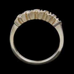 Round Brilliant Cut .50cttw Diamond Wedding Band in Wave design Mount in 14k Yellow Gold
