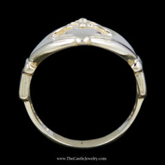 Classic Claddagh Ring Crafted in 14k Yellow Gold - The Castle Jewelry  - 3