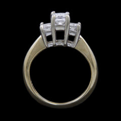 DeBeers Style Ring w/ .50cttw Princess Cut Diamonds Crafted in 14k Yellow Gold