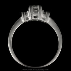Princess Cut 1cttw DeBeers Style 3 Diamond Ring in Platinum - The Castle Jewelry  - 3