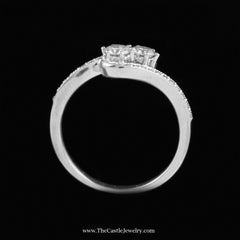 SPECIAL My Love My Best Friend 2 Round .50cttw Diamond Ring in 10K White Gold - The Castle Jewelry  - 3