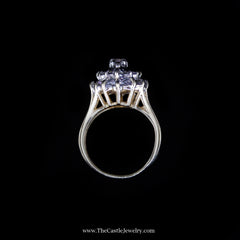 Gorgeous Diamond Marquise Shaped Cluster Ring in Yellow Gold - The Castle Jewelry  - 3