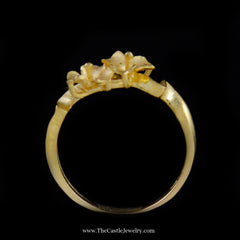 Beautiful Flower Design Ring in 21K Yellow Gold - The Castle Jewelry  - 3