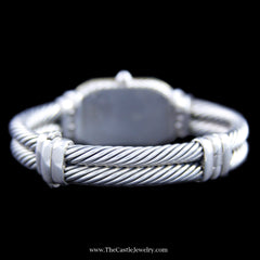 David Yurman Mother of Pearl Cable Watch Sterling Silver & 18K T408-M85 - The Castle Jewelry  - 3