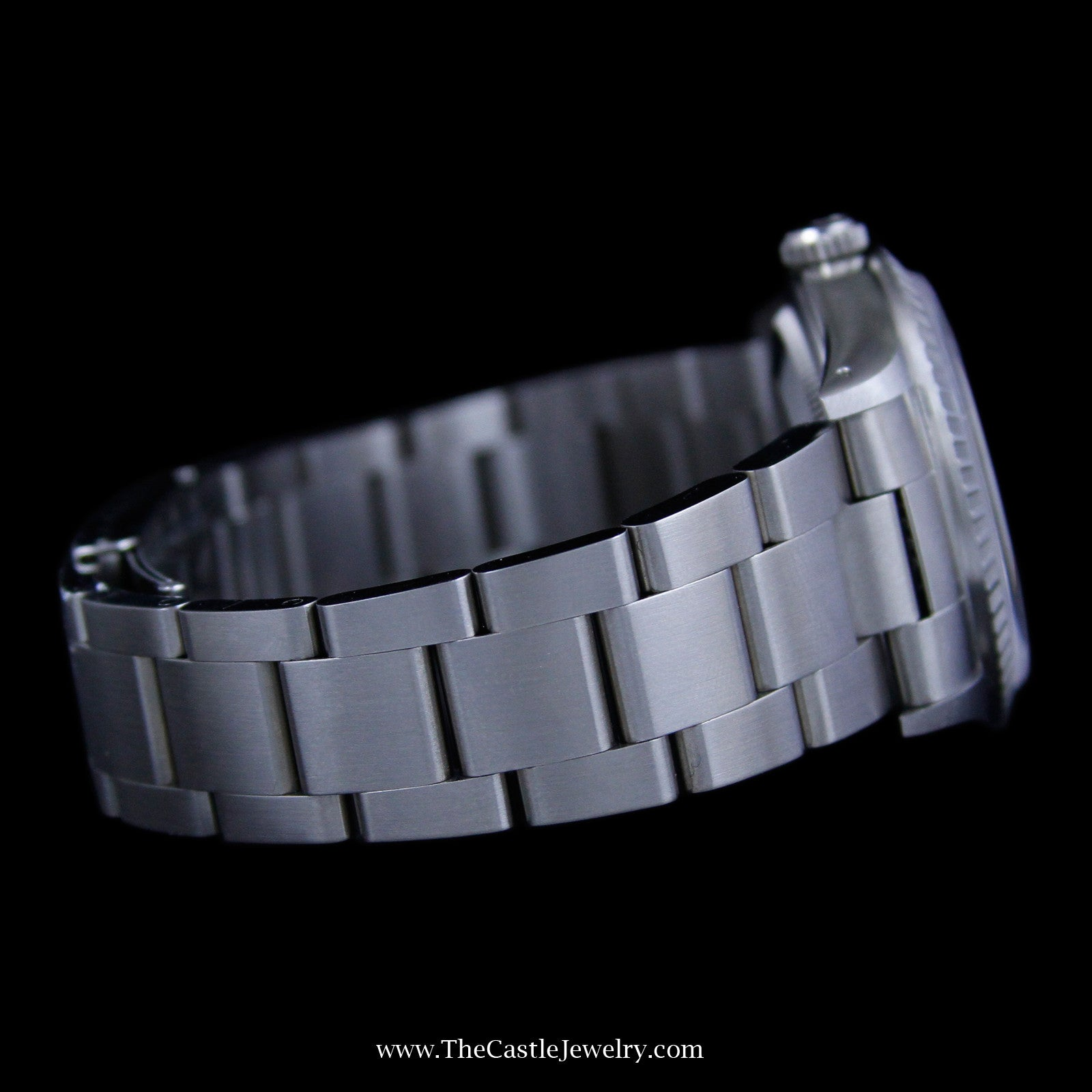 With silver stick dial all stainless oyster bracelet 16220 w warranty