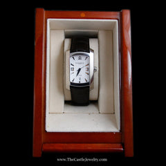 Baume Mercier Hampton Milleis Watch w/ White Dial & Brown Leather Strap - The Castle Jewelry  - 8