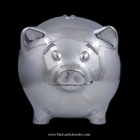 Designer Tiffany & Co. Piggy Bank in Sterling Silver
