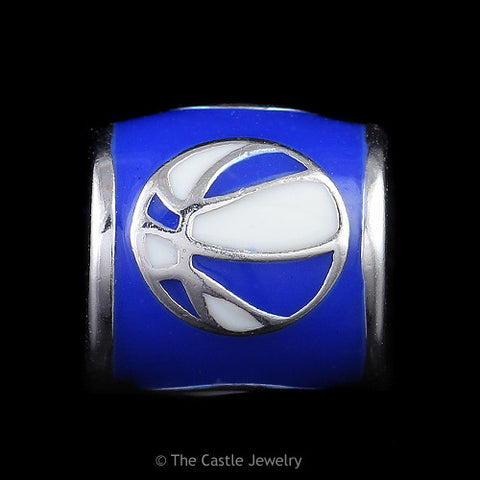 Collegiate University of Kentucky Basketball Barrel Bead