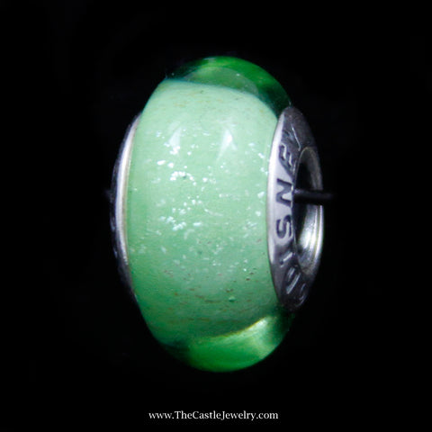 "Authentic Pandora ""Disney Tinkerbell Fluorescents Green"" Bead in Sterling Silver"