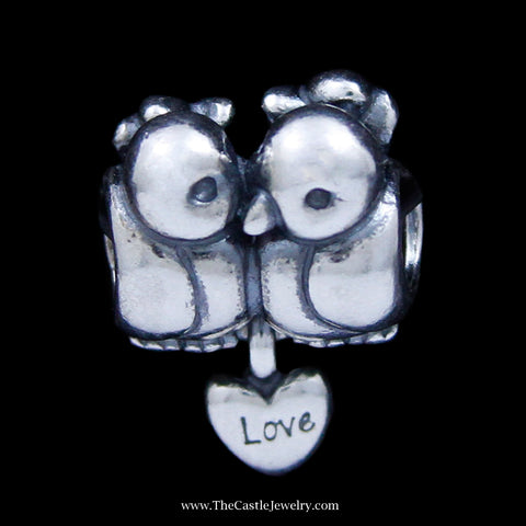 "Authentic Pandora ""Love Birds"" Charm in Sterling Silver"