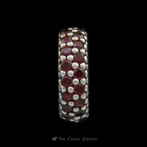 Authentic Inspiration Within Red Crystal Pandora Charm Crafted in Sterling Silver