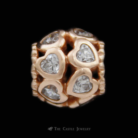 Discontinued Authentic Pandora Rose™ Love All Around Clear CZ Charm