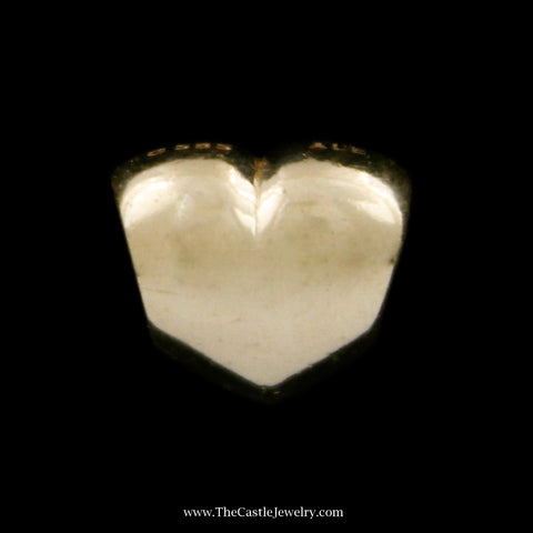 Retired Pandora Big Smooth Heart Charm in 14k Yellow Gold