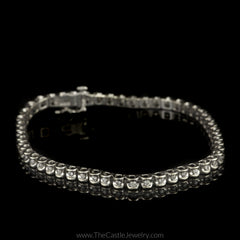 Diamond Illusion 1/2cttw Tennis Bracelet in 14K White Gold - The Castle Jewelry  - 1
