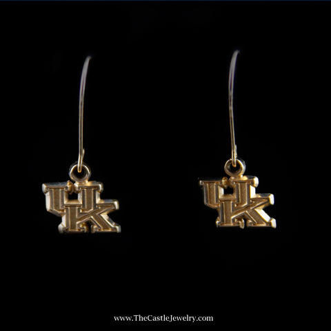 University of Kentucky Dangling Earrings in Yellow Gold