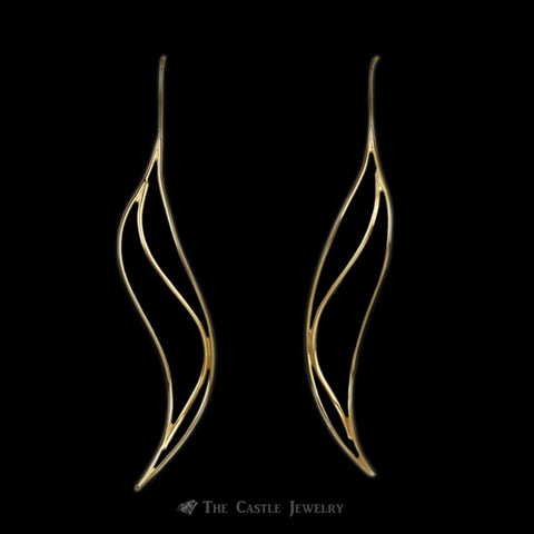 Tiffany & Company Elsa Peretti Wave Earrings in 18K Yellow Gold