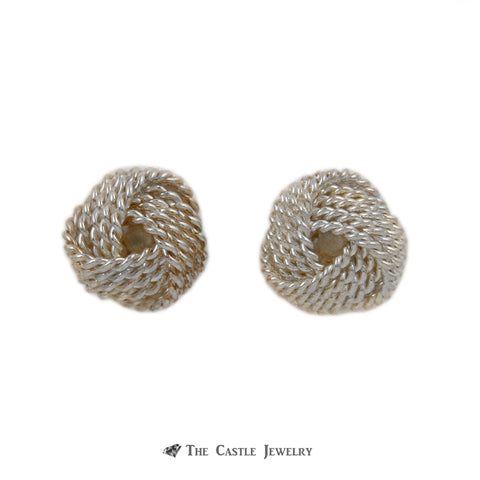 Tiffany & Co. Twist Love Knot Earrings Crafted in Sterling Sliver