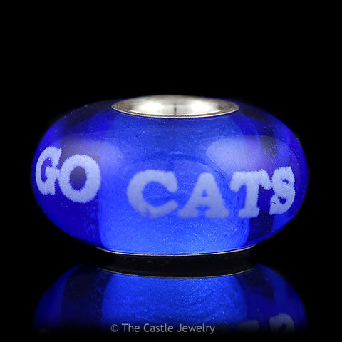 Collegiate University of Kentucky Fenton Art Glass Bead Go Cats