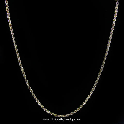 "21"" Rope Chain w/ Box Clasp & Latch in Yellow Gold"