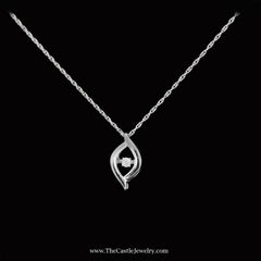 SPECIAL! Marquise Style Heartbeat Pendant in Sterling Silver - The Castle Jewelry  - 2