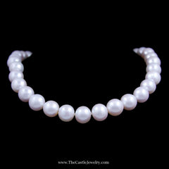 Gorgeous Genuine 12-13 Millimeter South Sea Pearls 20 Inches with 14K Gold Clasp - The Castle Jewelry  - 1