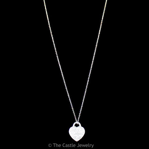 "Genuine Tiffany & Co. I Love You Notes Heart Necklace 16"" in Sterling Silver"