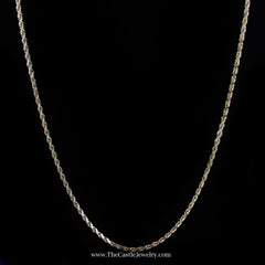 "Diamond Cut 20"" Rope Chain w/ Lobster Clasp in Yellow Gold - The Castle Jewelry  - 1"