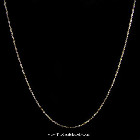 Rope Chain Necklace in 10K Yellow Gold 1.5mm 22 Inches 4.4 Grams