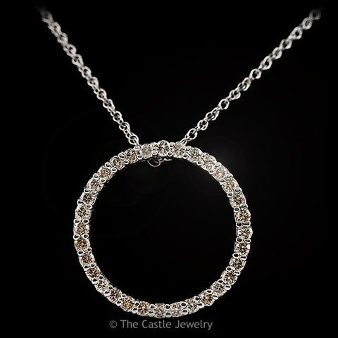 Circle Of Love Diamond Pendant in 14k White Gold; Color: I-J; Clarity: I1