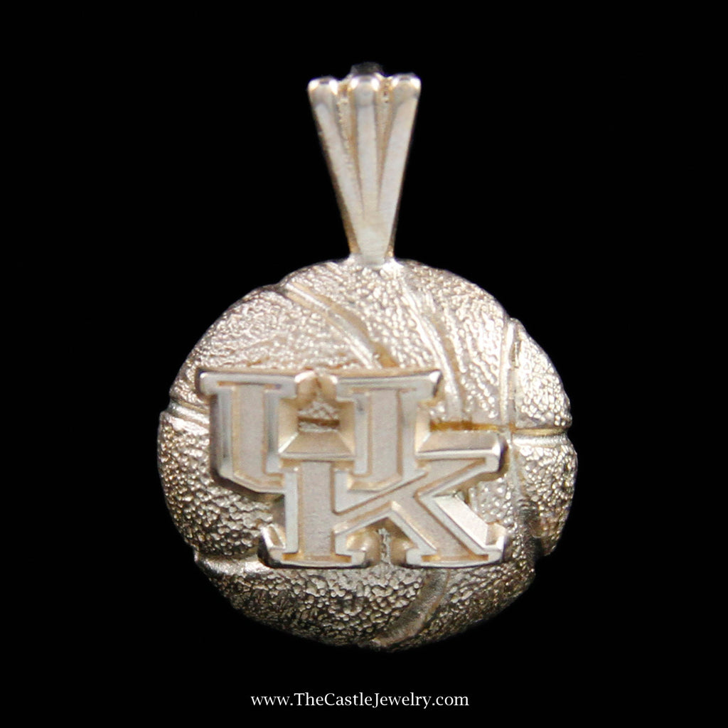 Memorable University of Kentucky Basketball Pendant in Yellow Gold - The Castle Jewelry  - 1