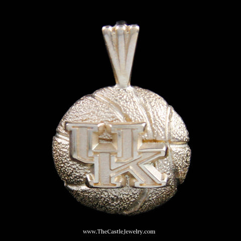 Memorable University of Kentucky Basketball Pendant in Yellow Gold