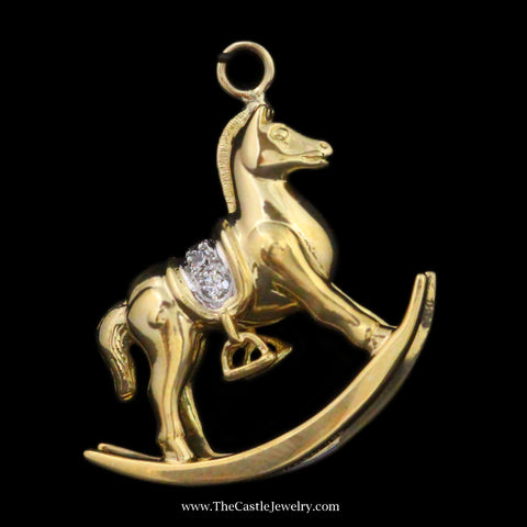 Tiffany & Co. Rocking Horse Pendant w/ Diamond Saddle in Yellow Gold