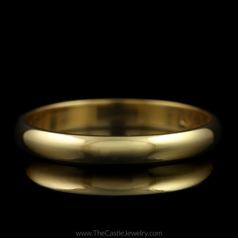 Polished Wedding Band 3mm Wide Size 10 in 14K Yellow Gold
