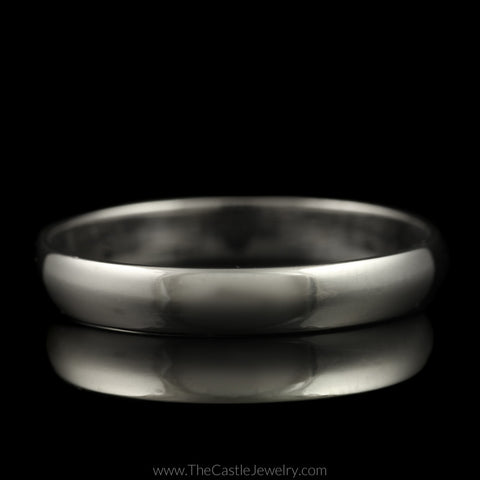 Polished Wedding Band 3.5mm Wide Size 10.75 in 14K White Gold