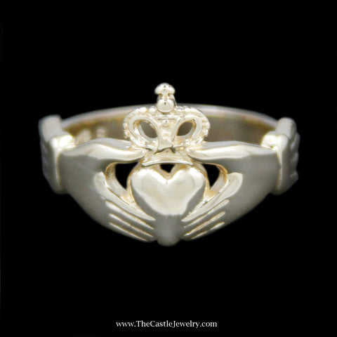 Classic Claddagh Ring Crafted in 14k Yellow Gold