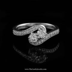 SPECIAL My Love My Best Friend 2 Round .50cttw Diamond Ring in 10K White Gold - The Castle Jewelry  - 1