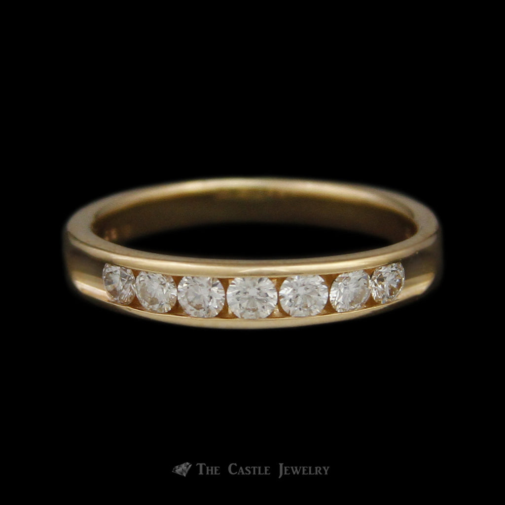 Love Story Channel Set Diamond Wedding Band .52cttw in 14K Yellow Gold