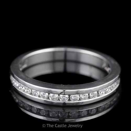 Designer Scott Kay .50cttw Channel Set Round Diamond Wedding Band in Platinum - The Castle Jewelry  - 1