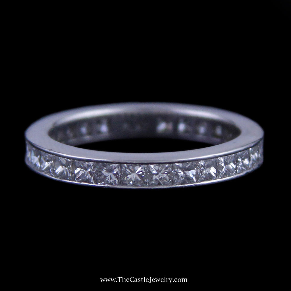 Beautiful 2cttw Princess Cut Diamond Eternity Band in Platinum - The Castle Jewelry  - 1