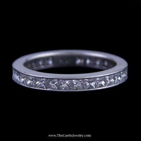 Beautiful 2cttw Princess Cut Diamond Eternity Band in Platinum