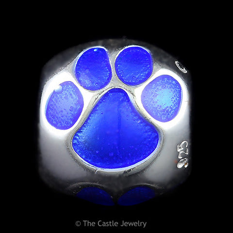 Collegiate University of Kentucky Wildcats Paw Bead