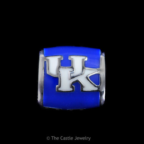 Collegiate University of Kentucky UK Barrel Bead