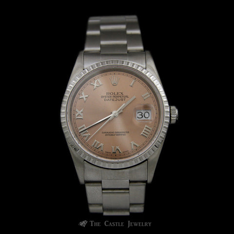 Stainless Steel Datejust w/ Copper Roman Numeral Dial & Oyster Bracelet ref. 16220
