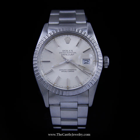 All Stainless Rolex DateJust Silver Dial with Oyster Bracelet 16030 w/ Warranty