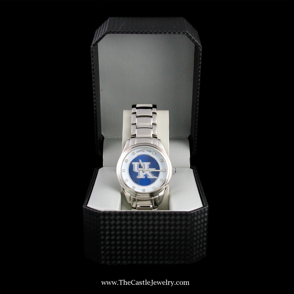 "Special! Stainless Steel Collegiate University of Kentucky ""Game Time"" Watch - The Castle Jewelry  - 2"