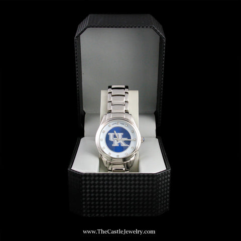 "Special! Stainless Steel Collegiate University of Kentucky ""Game Time"" Watch"