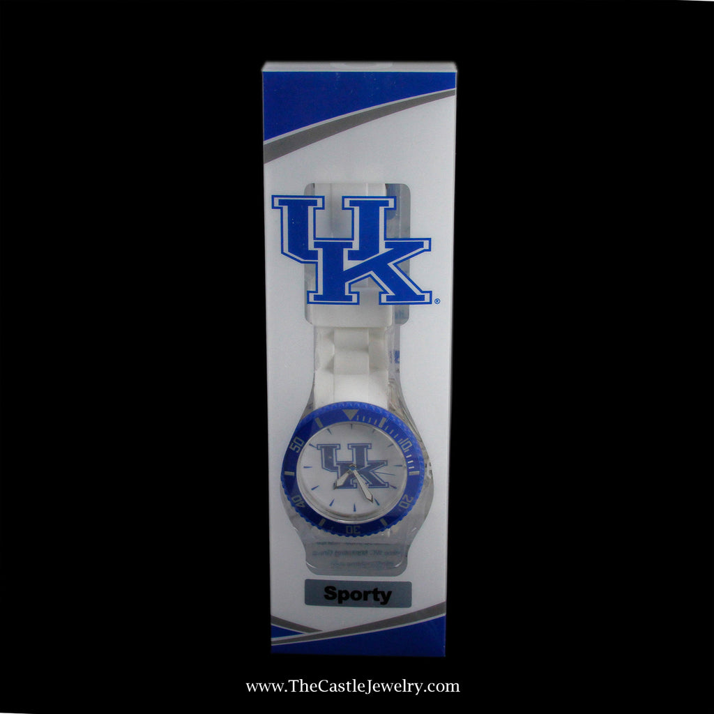 Stocking Suffer! Sporty Collegiate University of Kentucky Watch - The Castle Jewelry