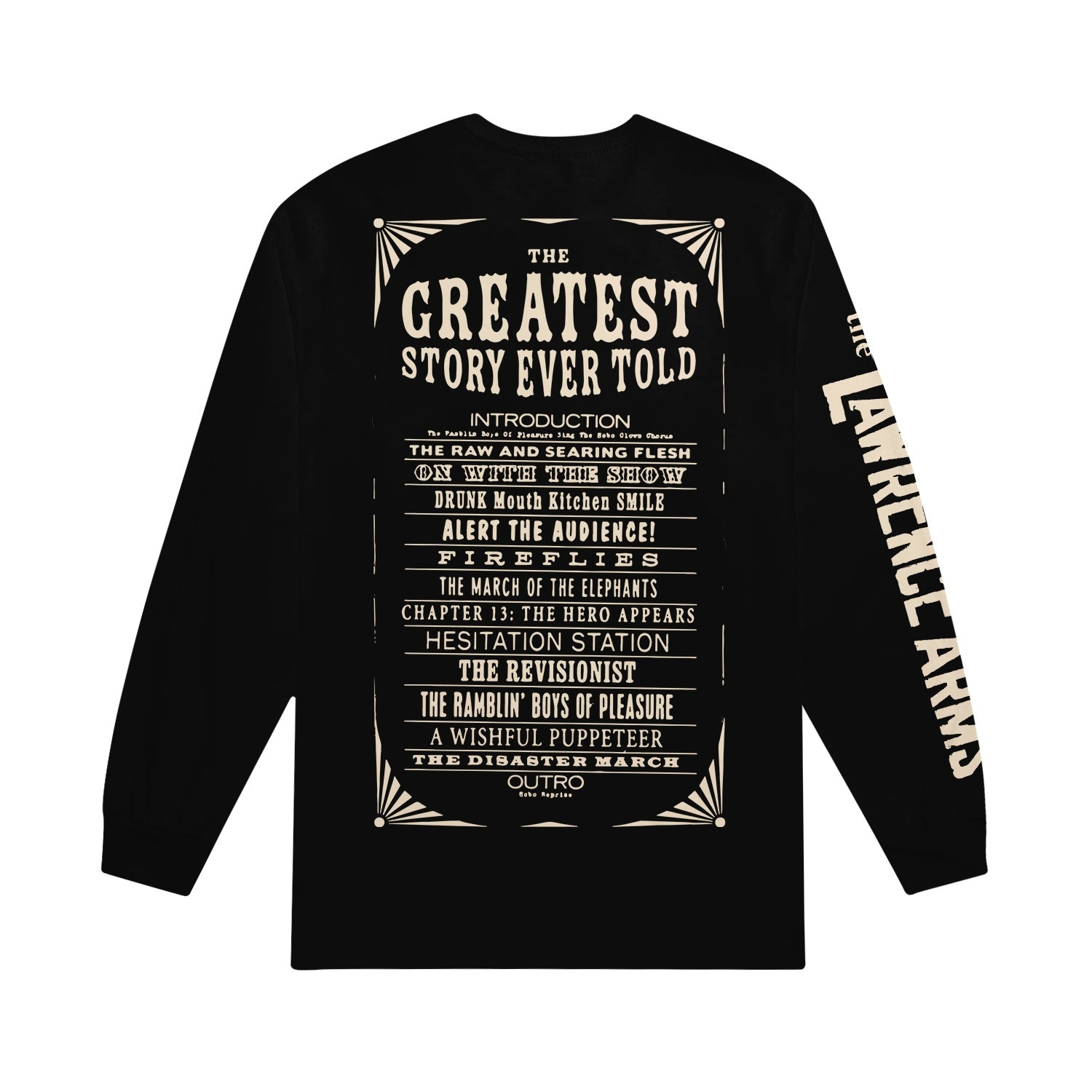 Greatest Story Ever Told Black Long Sleeve Tee