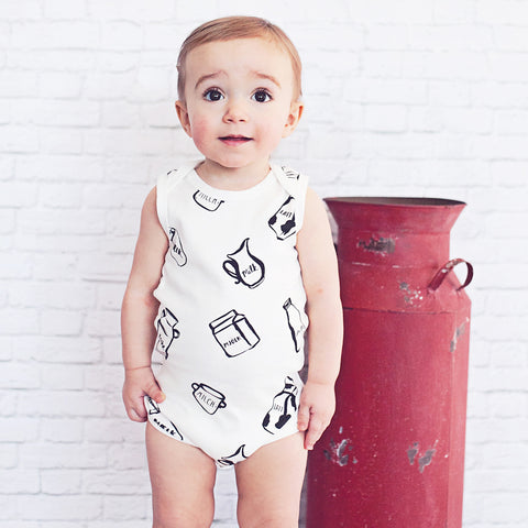 Milk Bottle Onesie (White)